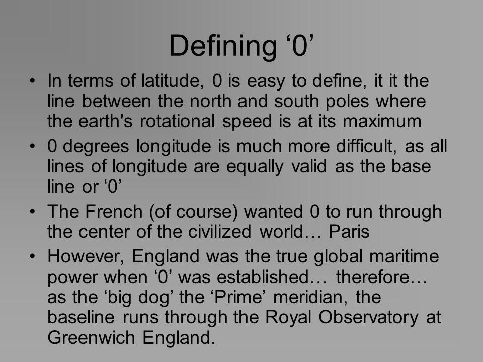 Defining '0'