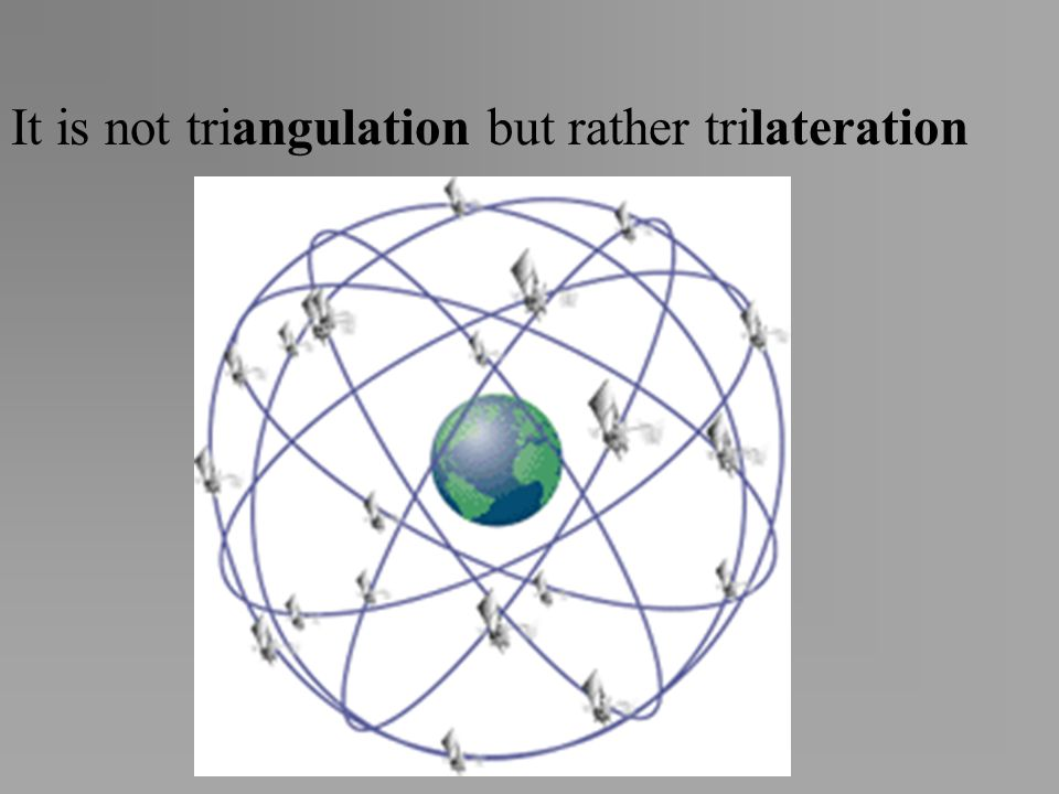 It is not triangulation but rather trilateration
