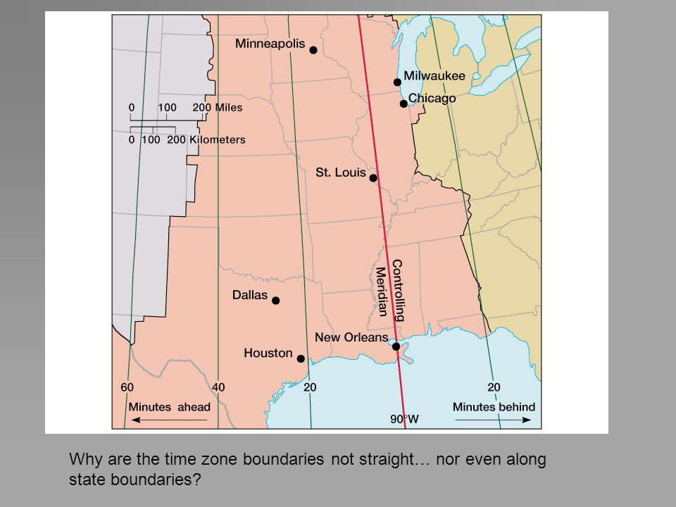 Why are the time zone boundaries not straight… nor even along state boundaries