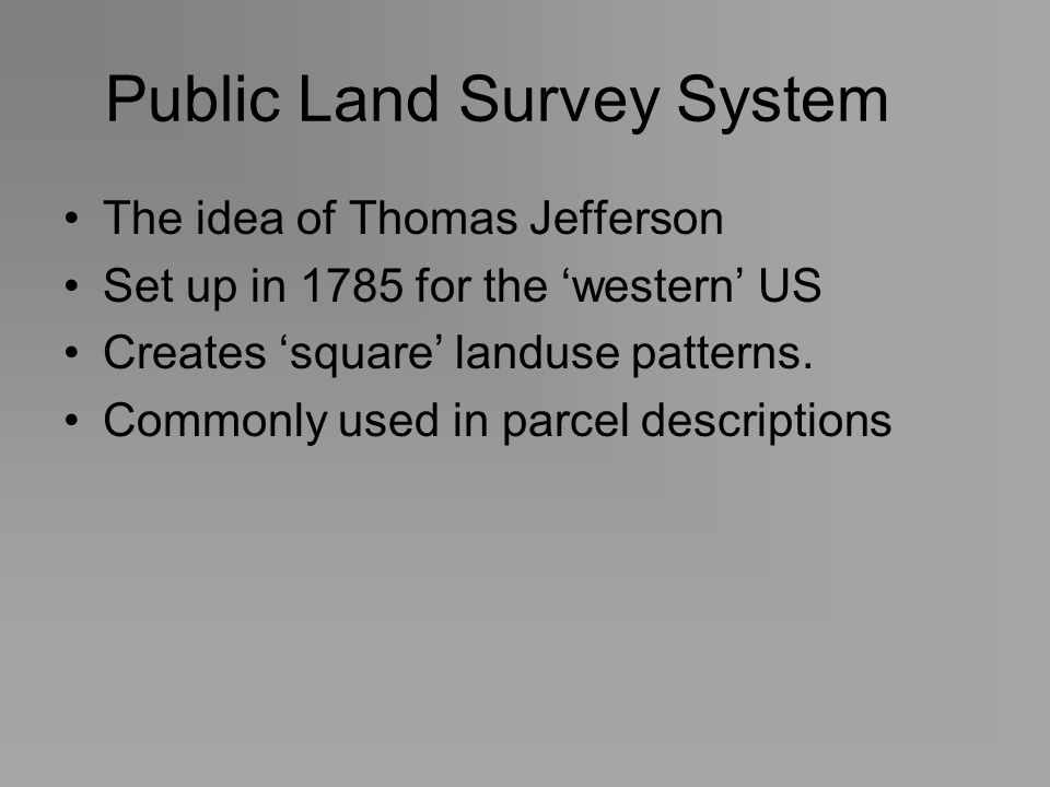 Public Land Survey System
