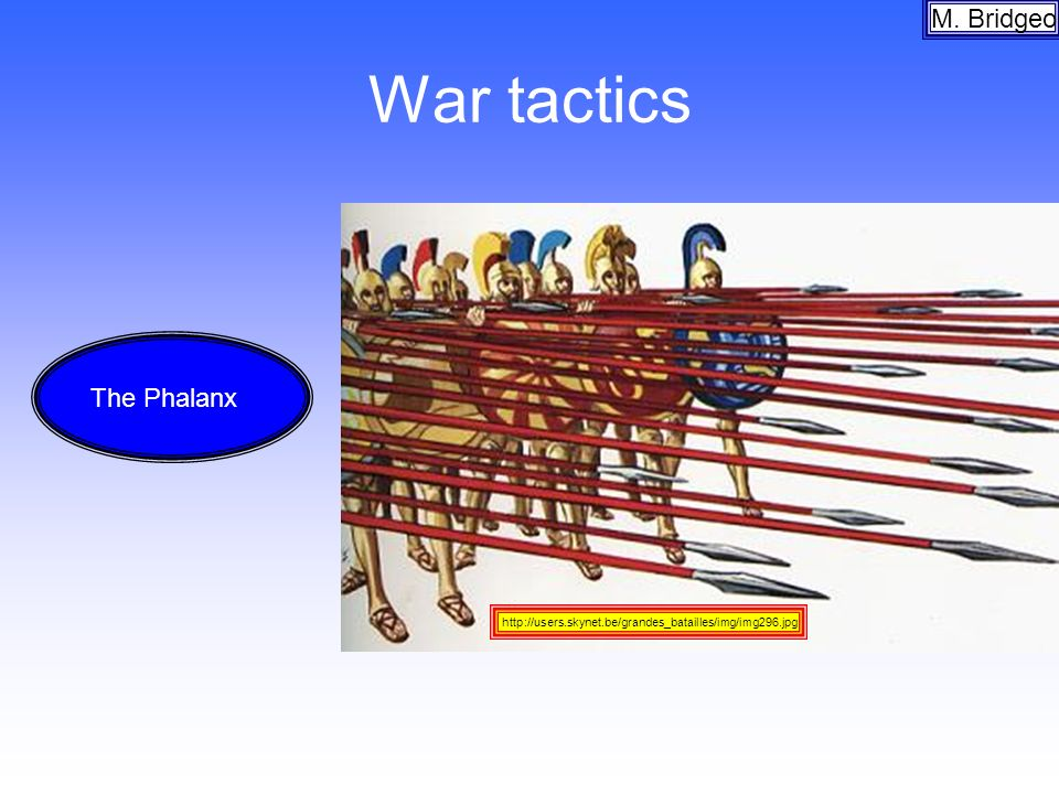 War tactics M. Bridgeo The Phalanx