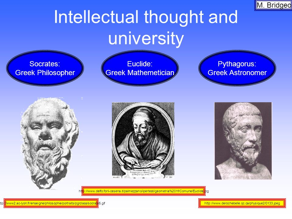 Intellectual thought and university