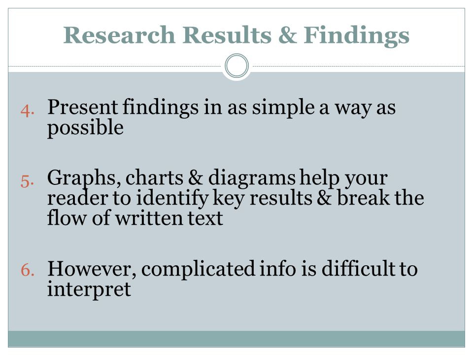 Research Results & Findings