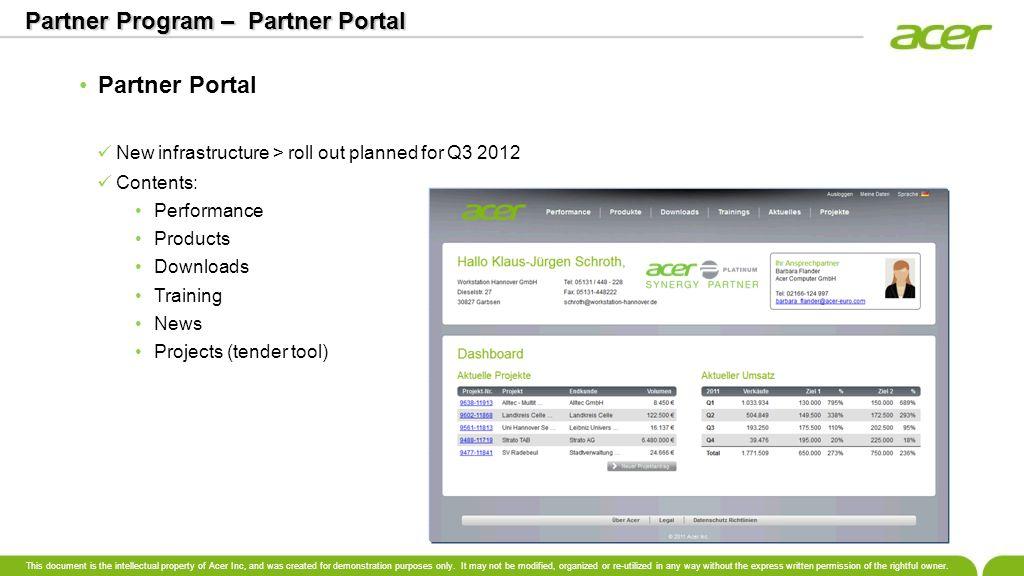 Partner Program – Partner Portal