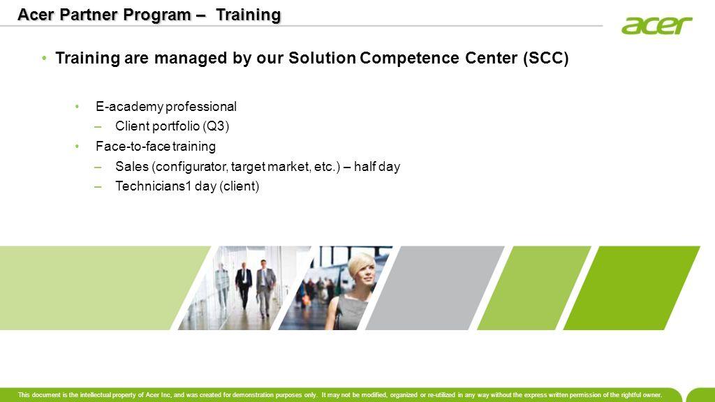 Acer Partner Program – Training