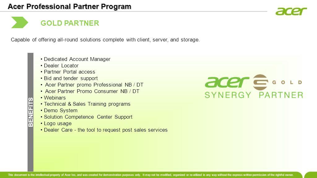 Acer Professional Partner Program