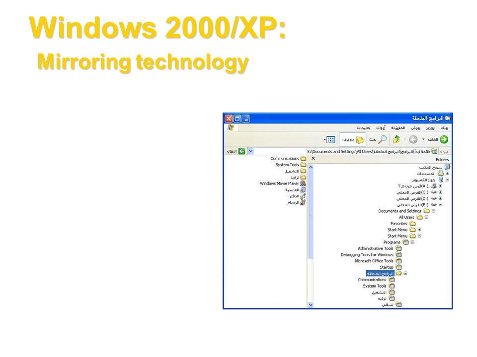 Windows 2000/XP: Mirroring technology
