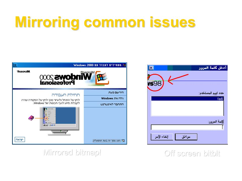 Mirroring common issues