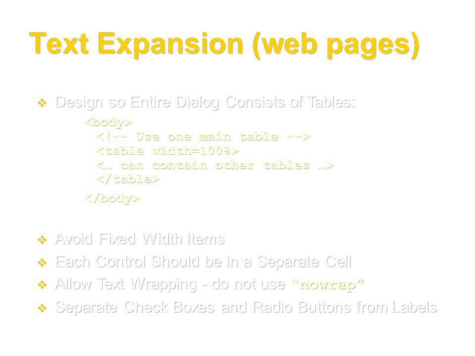 Text Expansion (web pages)