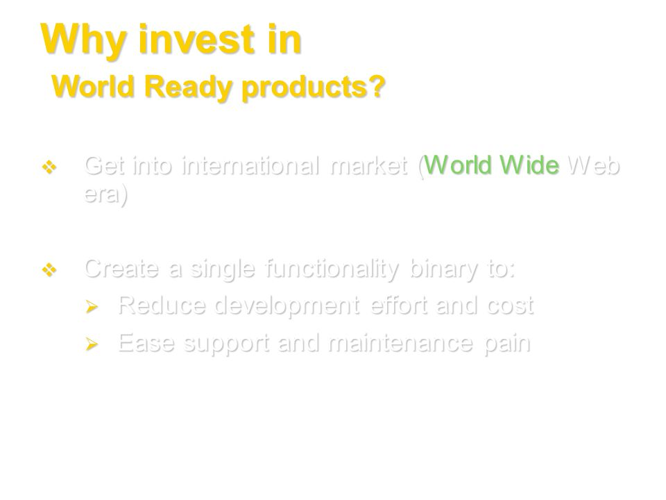Why invest in World Ready products