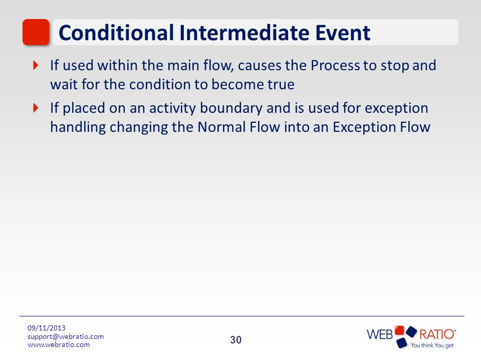 Conditional Intermediate Event
