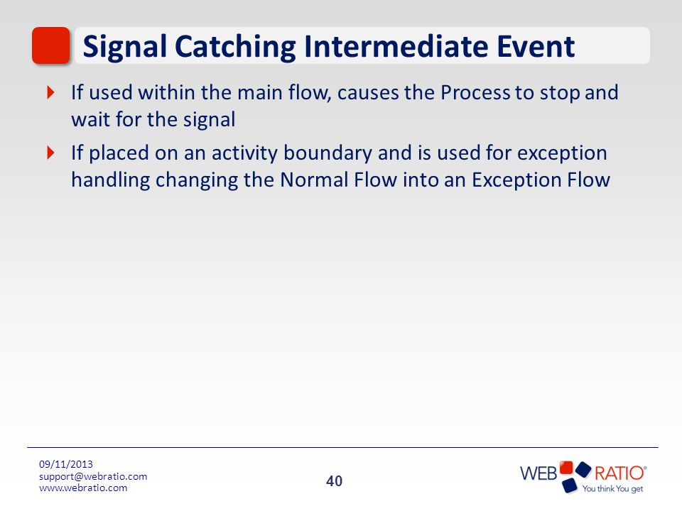 Signal Catching Intermediate Event