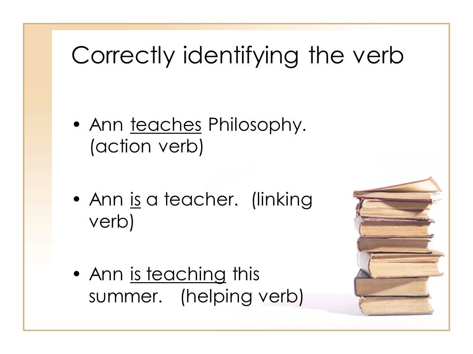 Correctly identifying the verb