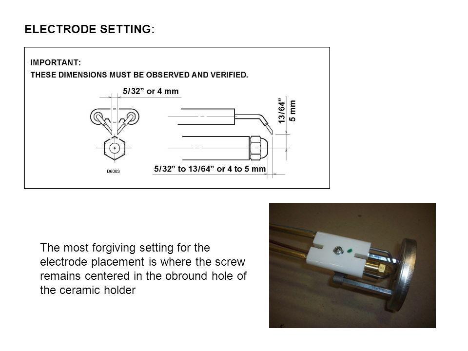 ELECTRODE SETTING: