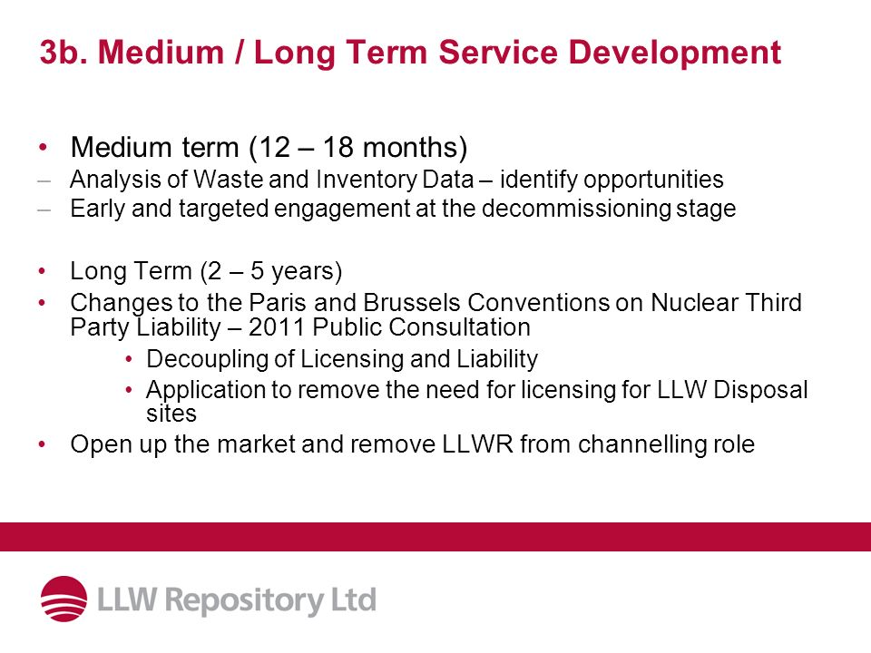 3b. Medium / Long Term Service Development