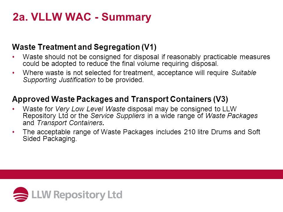2a. VLLW WAC - Summary Waste Treatment and Segregation (V1)