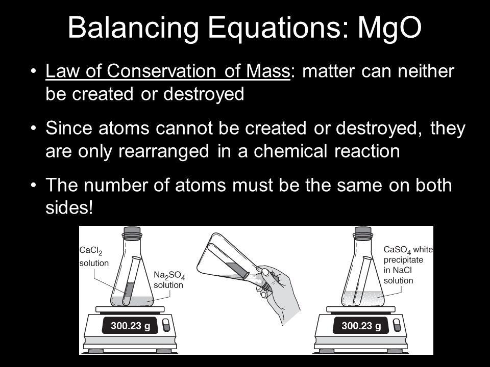 Balancing Equations: MgO