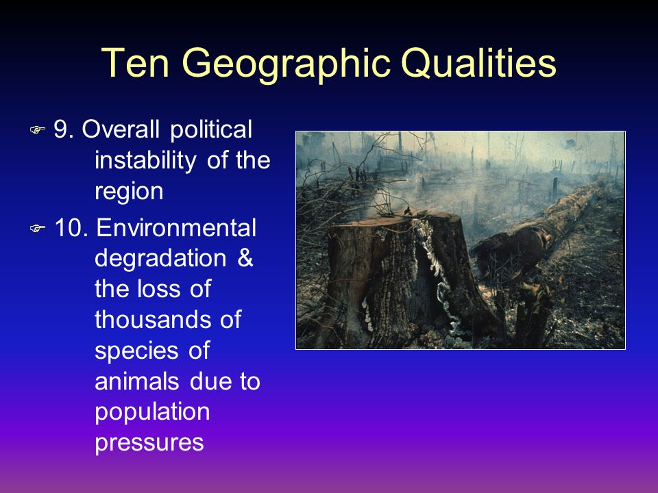 Ten Geographic Qualities