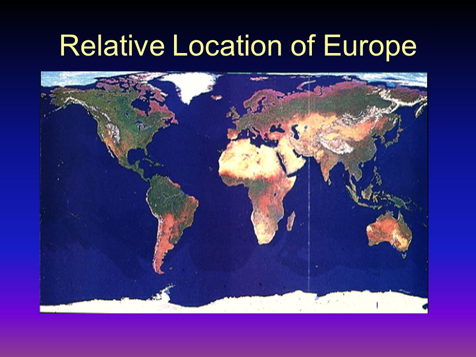 Relative Location of Europe