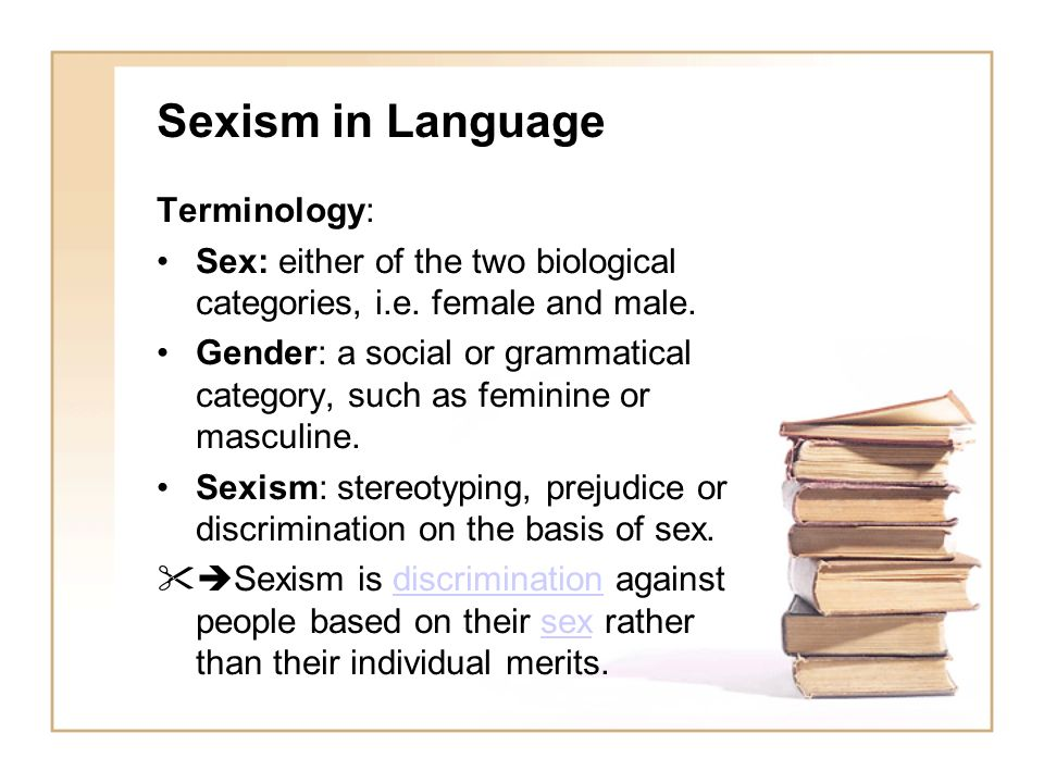 Sexism in Language Terminology: