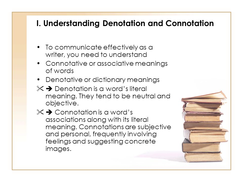 I. Understanding Denotation and Connotation