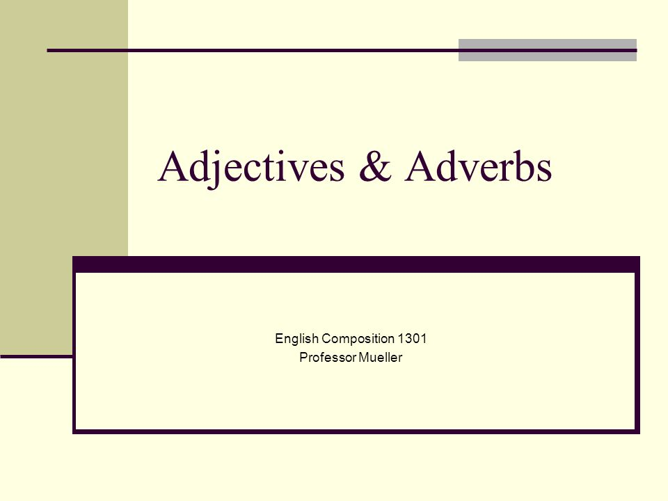 English Composition 1301 Professor Mueller