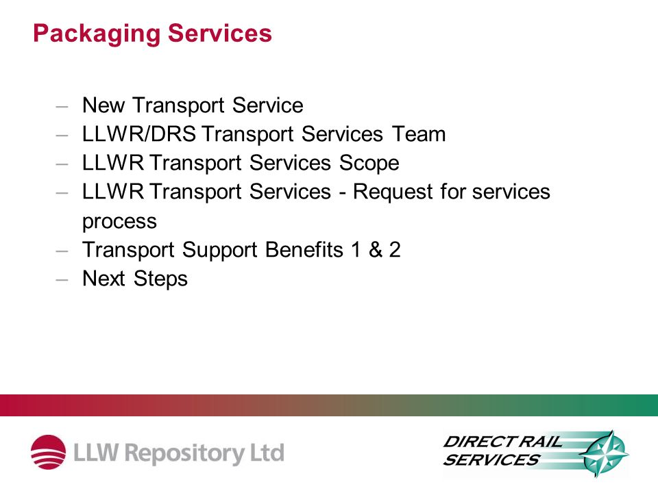 Packaging Services New Transport Service
