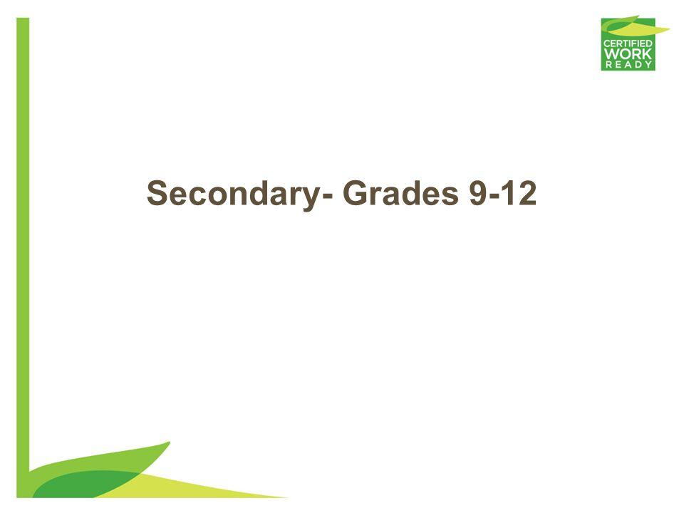 Secondary- Grades 9-12