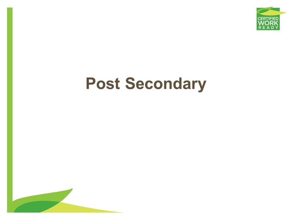 Post Secondary
