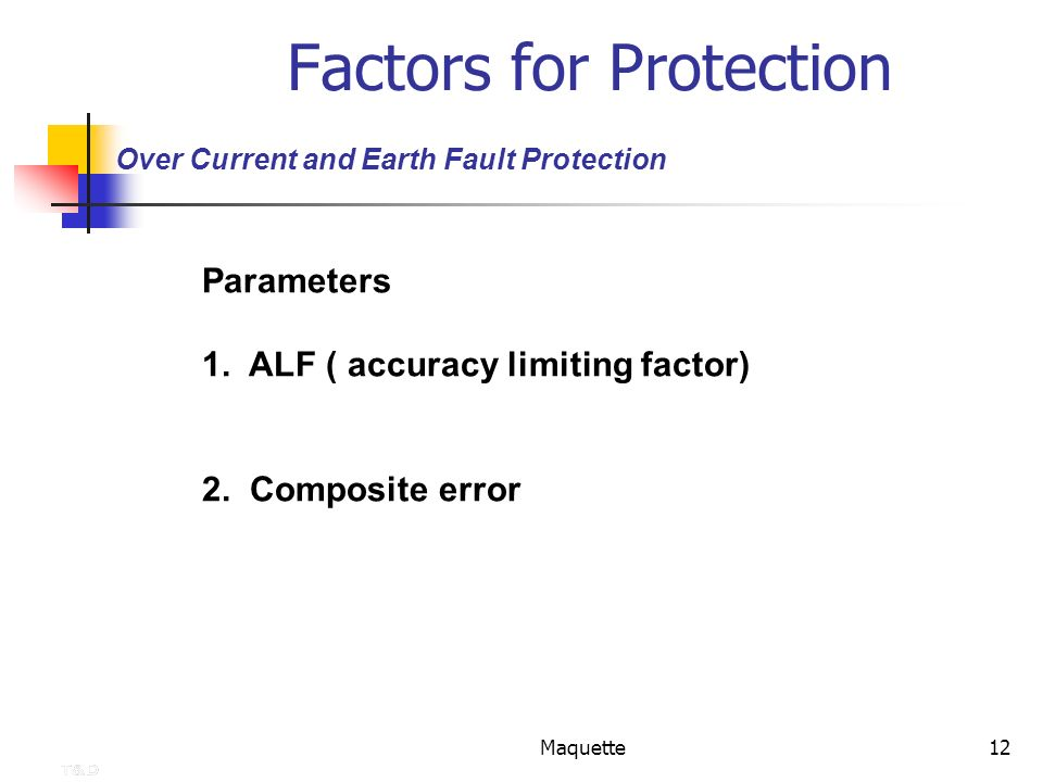 Factors for Protection