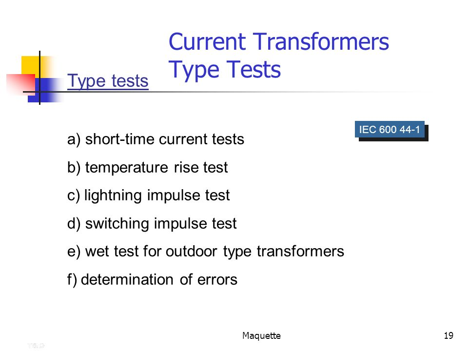 Current Transformers Type Tests