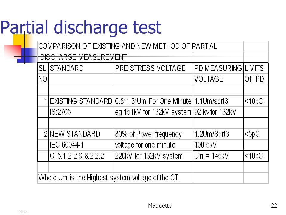 Partial discharge test