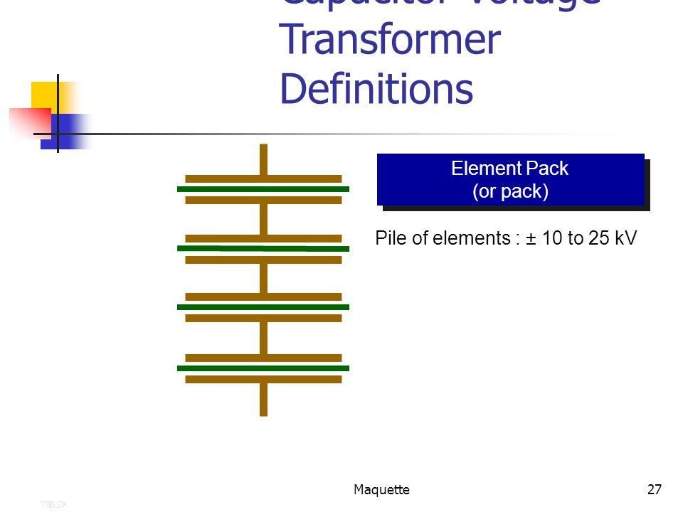 Capacitor Voltage Transformer Definitions