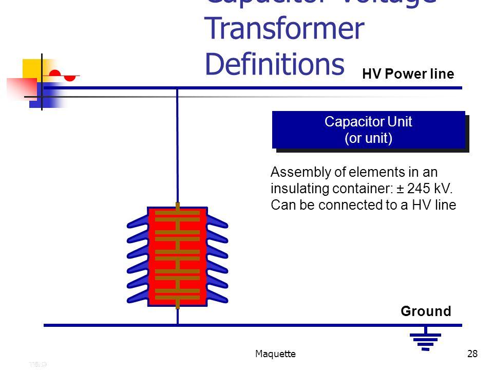 Capacitor Voltage Transformer Definitions