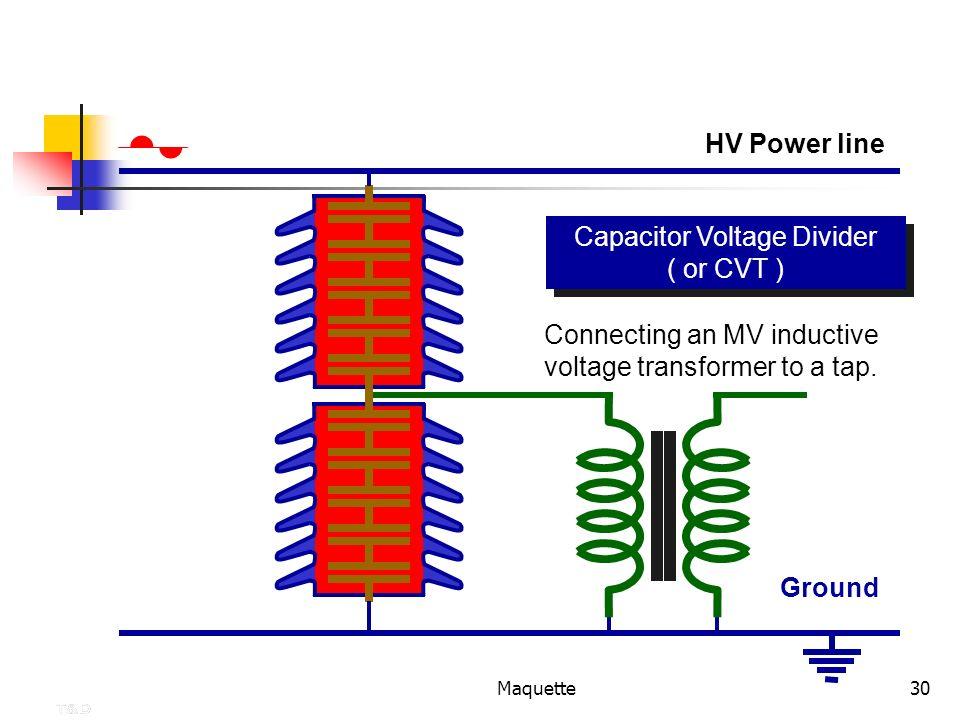 Capacitor Voltage Divider