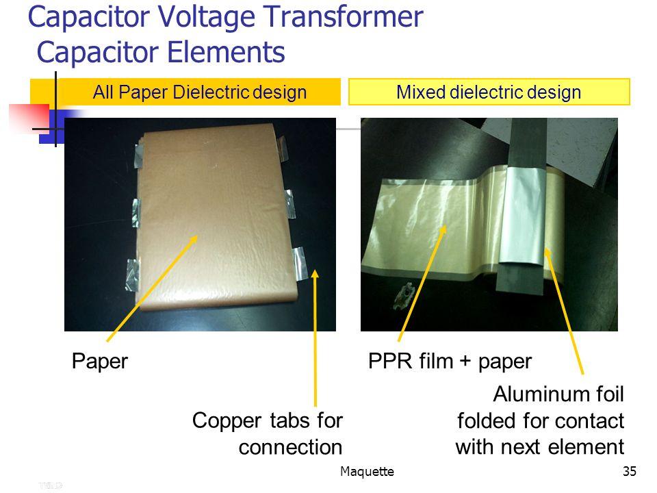 Capacitor Voltage Transformer Capacitor Elements