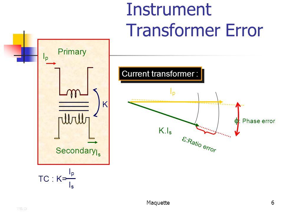 Instrument Transformer Error
