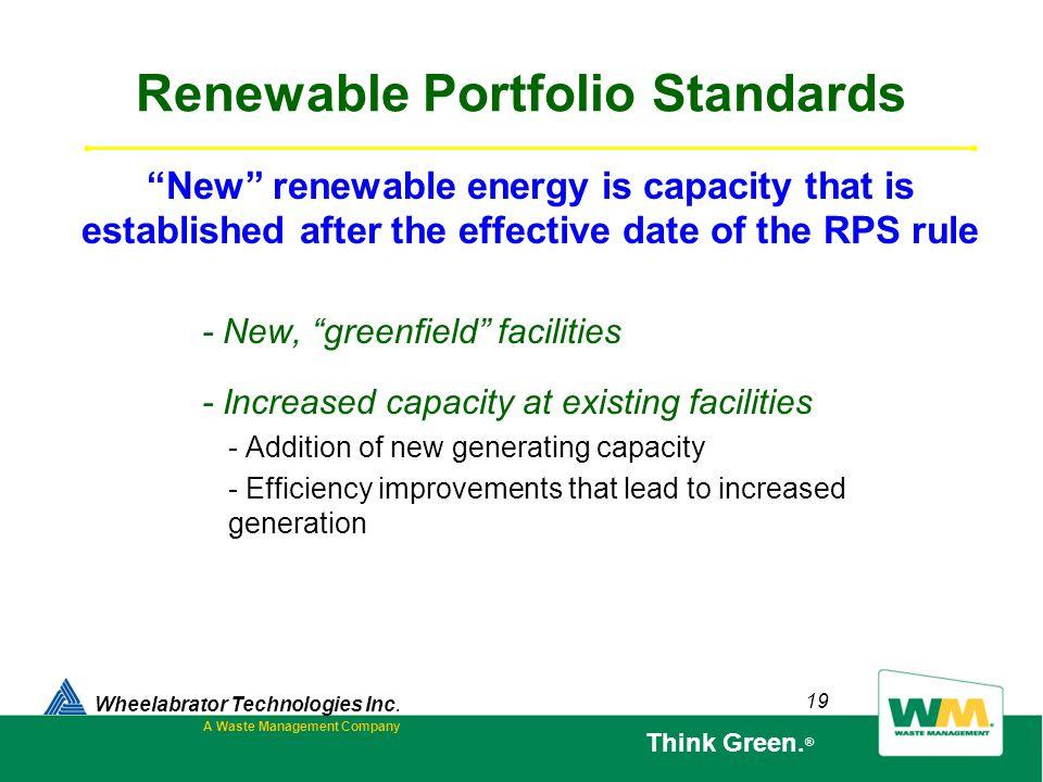 Renewable Portfolio Standards