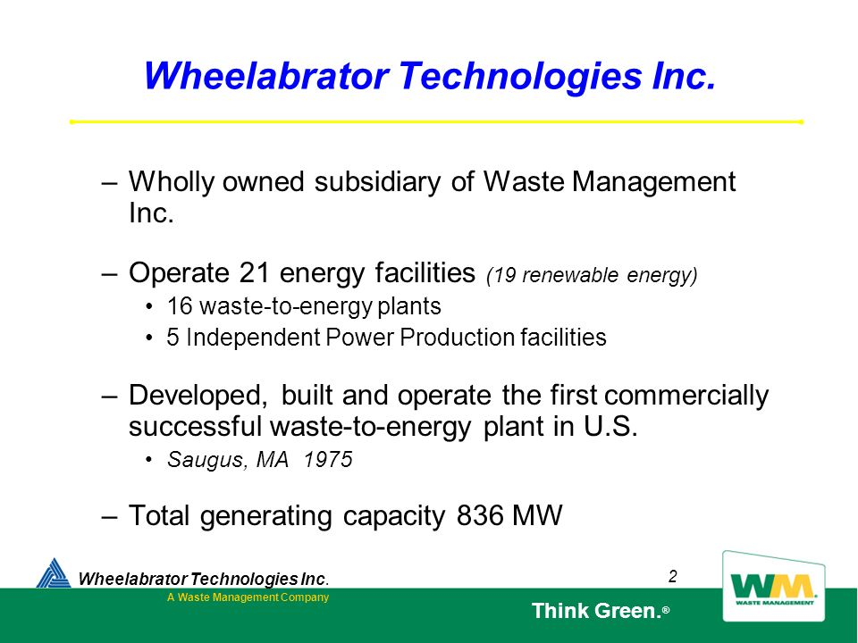 Wheelabrator Technologies Inc.