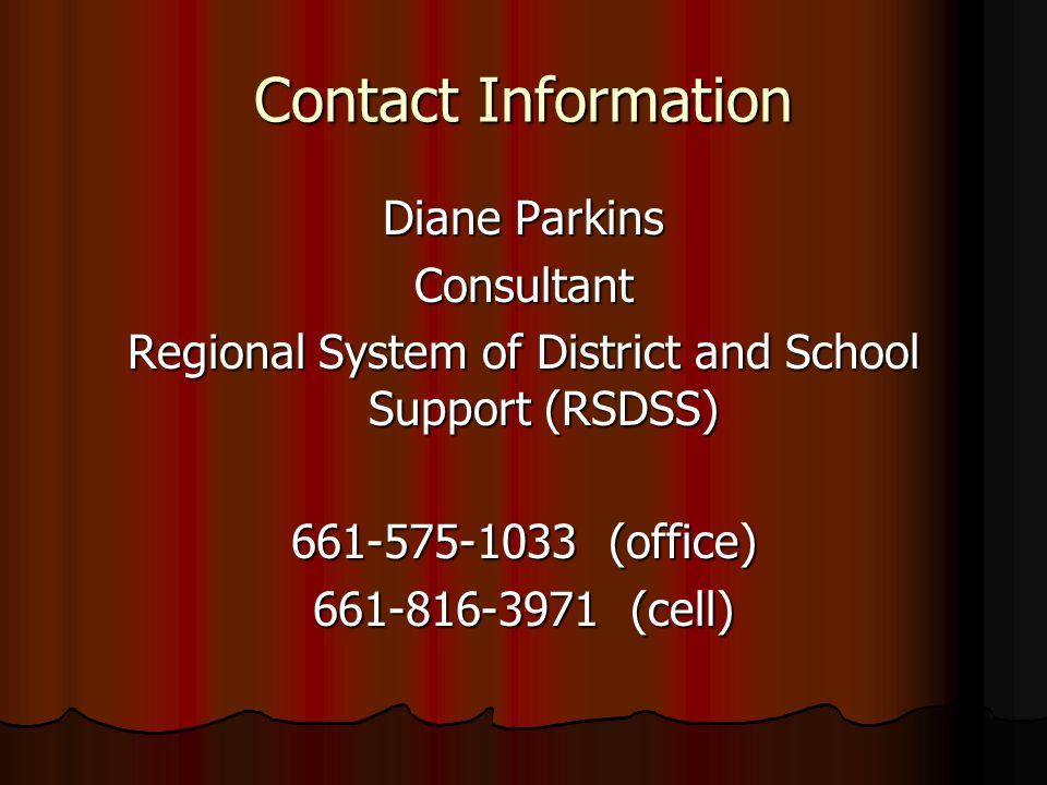 Regional System of District and School Support (RSDSS)