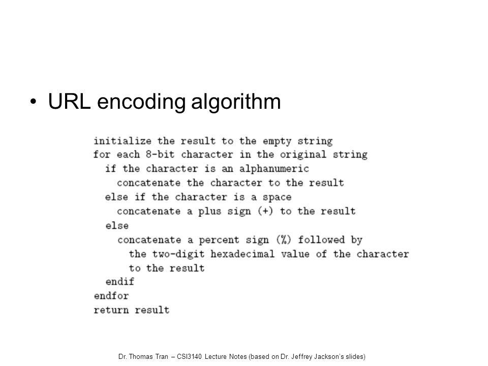 URL encoding algorithm