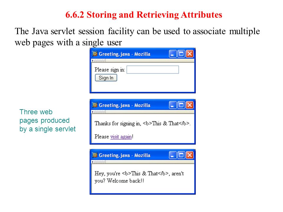 6.6.2 Storing and Retrieving Attributes