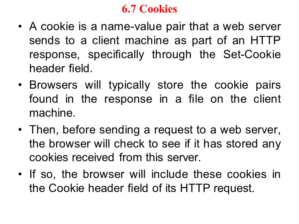 6.7 Cookies