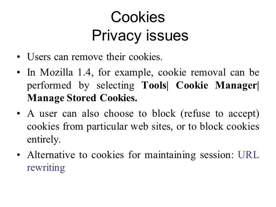 Cookies Privacy issues