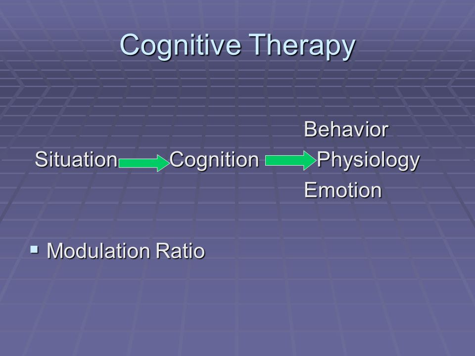 Cognitive Therapy Behavior Situation Cognition Physiology Emotion