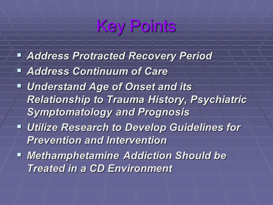 Key Points Address Protracted Recovery Period