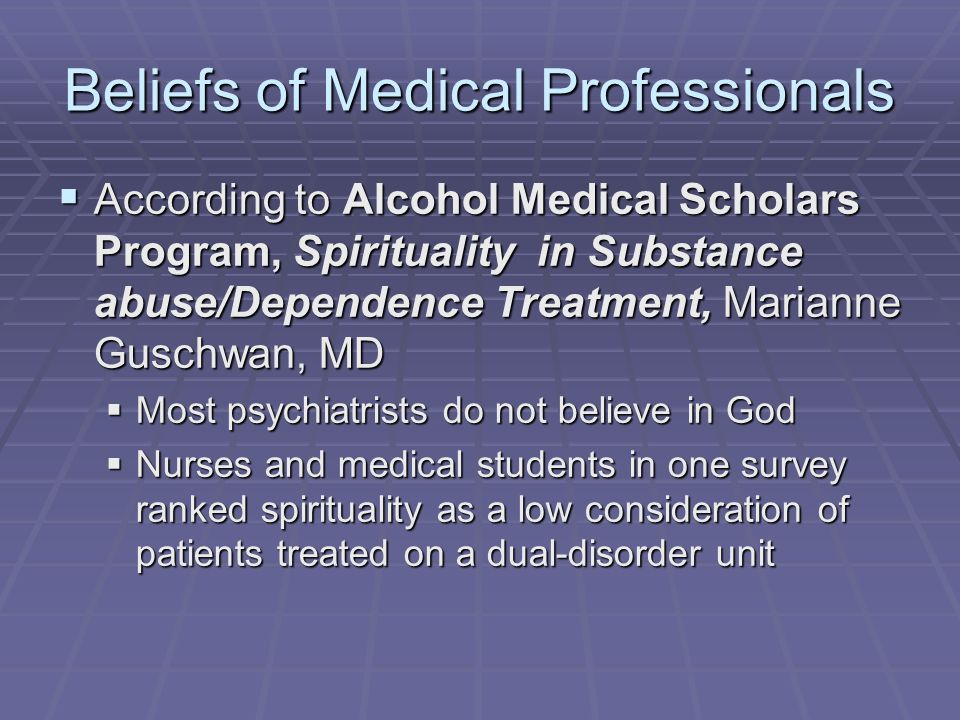 Beliefs of Medical Professionals