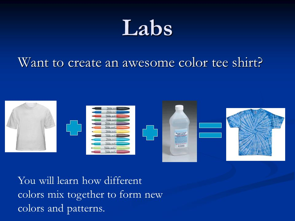 Labs Want to create an awesome color tee shirt