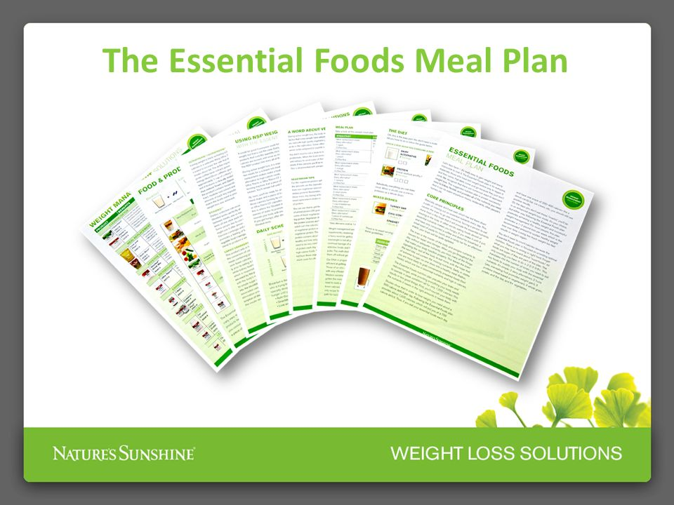 The Essential Foods Meal Plan
