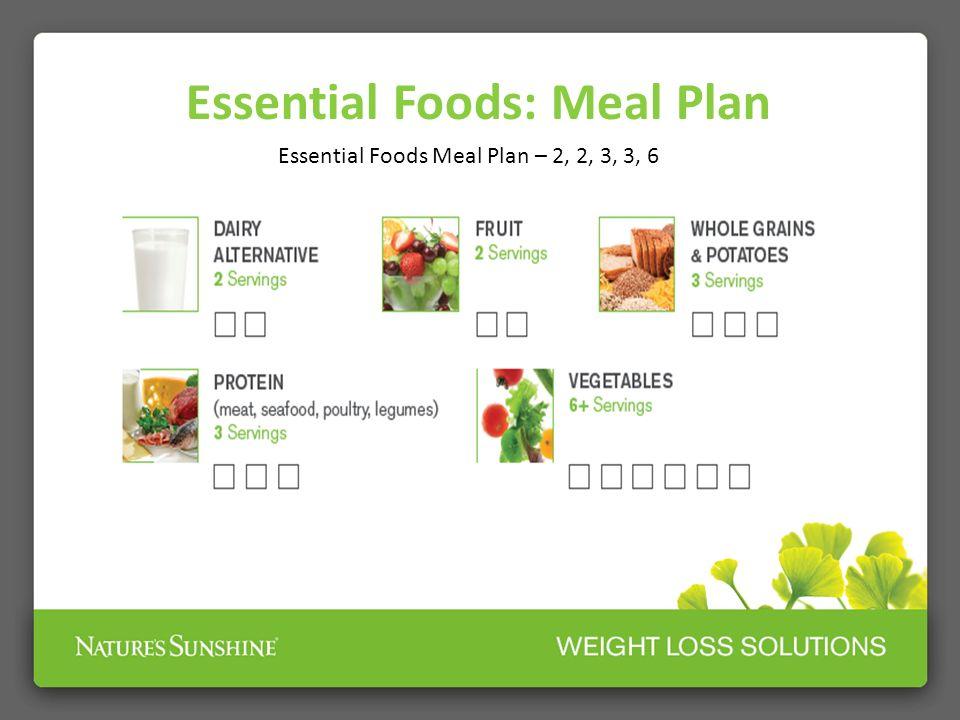 Essential Foods Meal Plan – 2, 2, 3, 3, 6